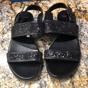 Cole Haan size 8 black flat sandals